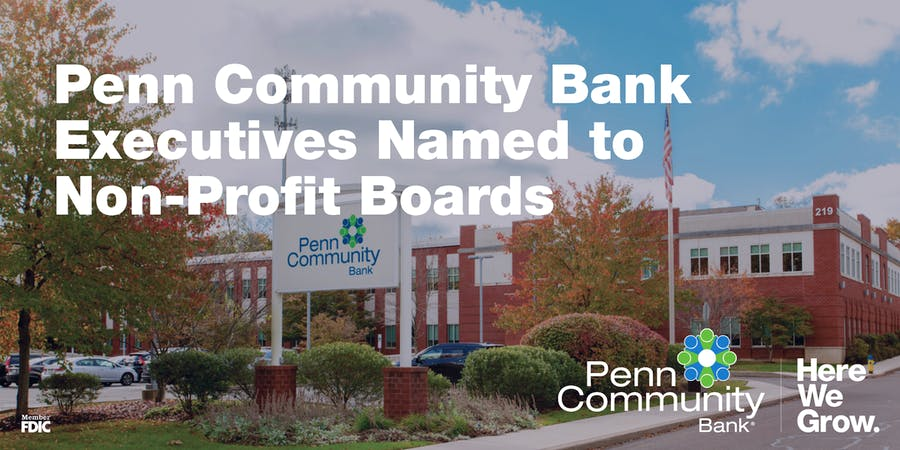 Penn Community Bank Executives Named to Non-Profit Boards